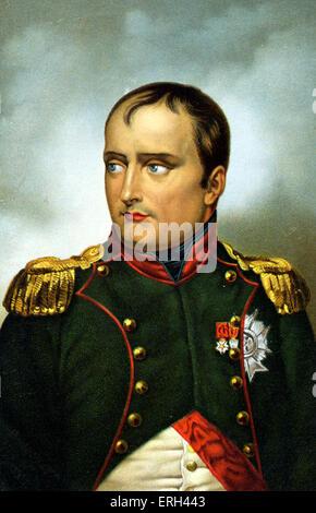 Napoleón Bonaparte por Horace Vernet, emperador de los franceses, 1769-1821. Foto de stock