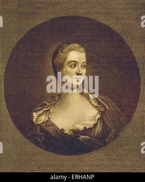 Madame de Pompadour - desde el grabado por J. Watson después de pintar por F. Boucher. Seudónimo de Jeanne Antoinette Poisson.amante del rey Luis XV de Francia. 1721 - 15 de abril de 1764.