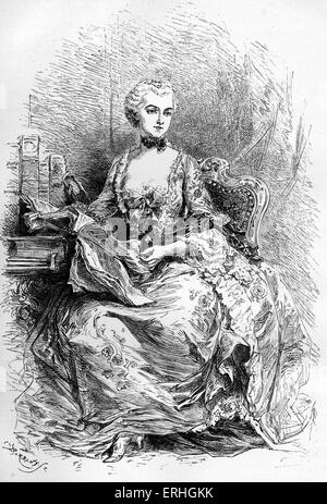Madame de Pompadour - retrato de la amante del rey Luis XV de Francia. 29 de diciembre de 1721 - 15 de abril de 1764.