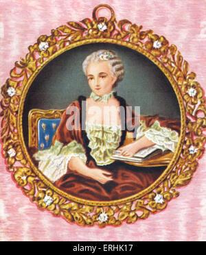 Madame de Pompadour. Retrato de la amante del rey Luis XV de Francia. 1721 - 15 de abril de 1764