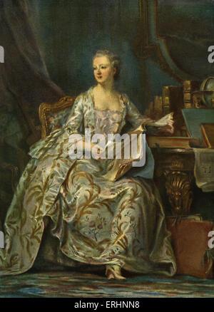 Madame de Pompadour - retrato del rey Louis XV 's amante Maurice Quentin de Latour (1704 - 1788). Celebrada en el original
