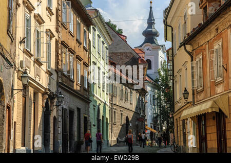 Casco Antiguo de Ljubljana. Eslovenia Foto de stock