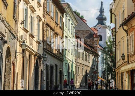 Casco Antiguo de Ljubljana Eslovenia Foto de stock
