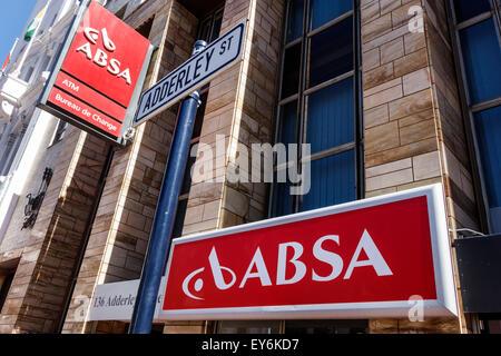Sudáfrica, África, Ciudad del Cabo, Centro de la ciudad, centro, Adderley Street, ABSA, banco, signo, logotipo, Foto de stock