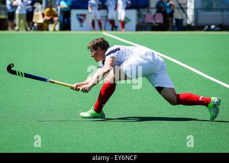 Praga, República Checa. El 22 de julio de 2015. Campeonatos EuroHockey II match entre Escocia y Ucrania. Crédito: Petr Toman/Alamy Live News
