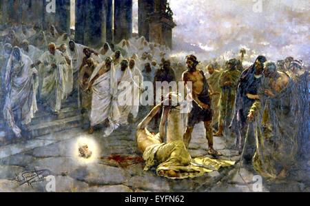 La decapitación de San Pablo, la pintura por Simonet. Decapitacion ...