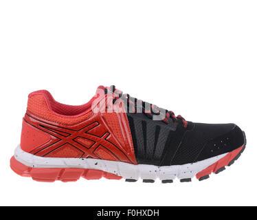 Rojo y negro de Asics gel Lyte33 2 zapatillas recorte