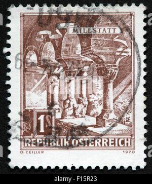 1s Millstatt Republik Osterreich 1970 O.Zeiller Brown Stamp