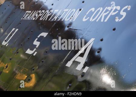 Shildon, County Durham, Reino Unido. El 19 de septiembre, 2015. Temática WWII Otoño Gala en la locomoción de vapor, el Museo Nacional del Ferrocarril en Shildon. S160 2253 - ex transporte US Army Corps locomotora hecha por Baldwins en Filadelfia, Estados Unidos, y enviado a Inglaterra en mayo de 1943. Crédito: Andrew Nicholson/Alamy Live News