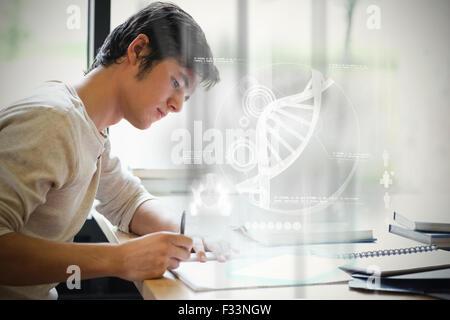 Imagen compuesta de ilustración de ADN Foto de stock