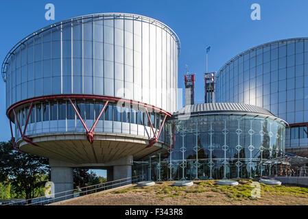 Edificio de la Corte Europea de Derechos Humanos / ECtHR en Estrasburgo, Francia
