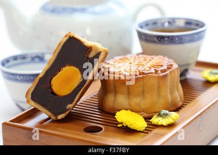 Mooncake, torta de luna, chino tradicional dulce, mediados de otoño festical