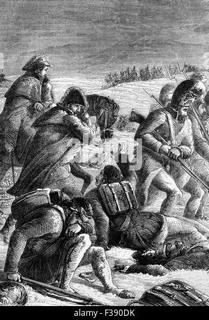19 de octubre de 1812, apenas un mes después de que Napoleón Bonaparte la masiva fuerza invasora entró un ardor y desierta hambrientos de Moscú, el ejército francés frente al invierno ruso, y se vieron obligados a iniciar una retirada precipitada.