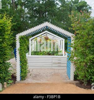 Instalación de jardín el Festival Internacional de Jardines 2015 en el dominio de Chaumont-sur-Loire