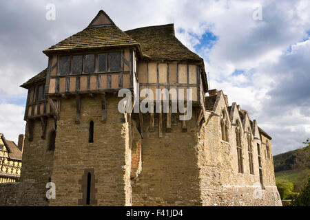 Reino Unido, Inglaterra, Shropshire, Craven Arms, Stokesay Castle Torre Norte