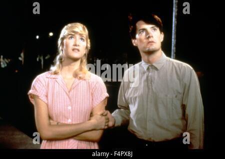 Laura Dern y Kyle MacLachlan / Blue Velvet / 1986 / dirigido por David Lynch / [De Laurentiis Entertainment Group]