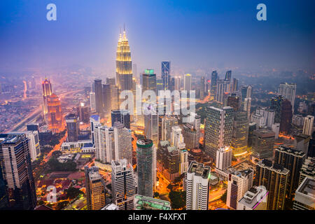 Kuala Lumpur, Malasia, el horizonte de la ciudad.