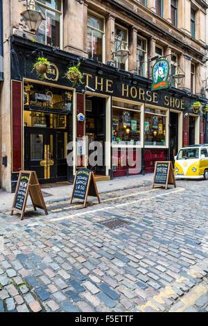 The Horse Shoe Bar en el centro de la ciudad de Glasgow, Drury Street, Escocia, Reino Unido