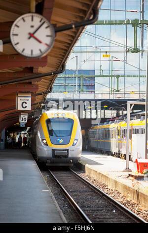 Suecia, Gotemburgo, en la estación de tren