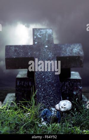 Una fractura de muñeca en una tumba