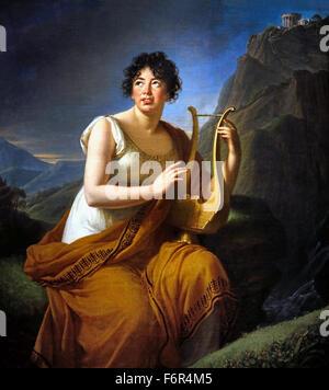 Retrato de Madame de Staël Corinne como en Cape Misenum 1809 Musée d'Art et d'Histoire de Ginebra, Marie Louise Élisabeth Vigée Le Brun 1755 -1842 París Francia Francia ( rococó pintor neoclásico )