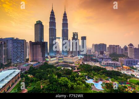 Horizonte de Kuala Lumpur, Malasia.