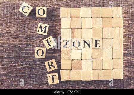 Paso fuera de su zona de confort concepto
