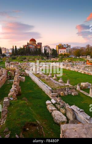 Sitio arqueológico de Kerameikos cerca del Ágora ateniense.