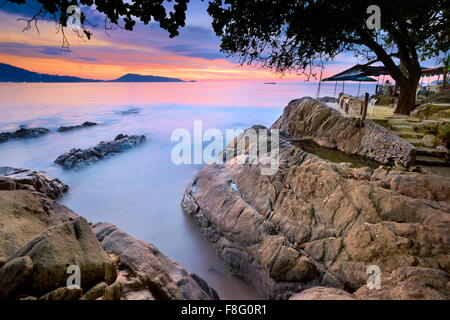 Tailandia - La isla de Phuket, Patong Beach, Sunset tiempo paisaje