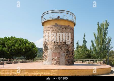 El Castella Tower en el Parc del Castell, Malgrat de Mar, Costa del Maresme, Cataluña, España