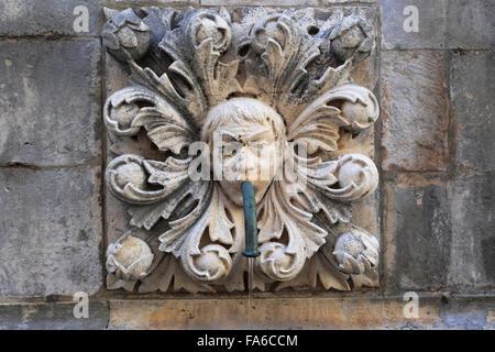 La gran Onofrios Fountain, Main Street, Dubrovnik, del condado de Dubrovnik-Neretva, la costa dálmata, Mar Adriático, Croacia, Balcanes,