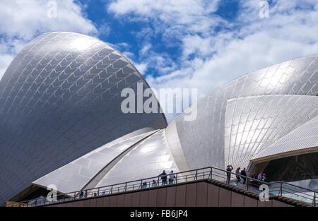 Australia, Sydney, detalle arquitectónico de la Ópera Foto de stock