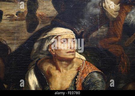 La masacre de Quíos (1822), el 11 de abril de 1824 por el pintor francés Eugène Delacroix (1798-1863). Guerra de Independencia griega.