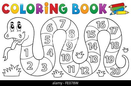 Libro para colorear con números temáticos de serpiente Foto & Imagen ...