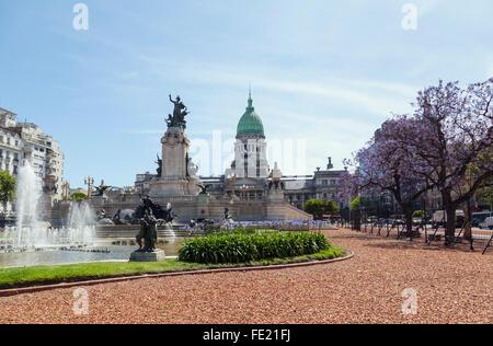 Congreso nacional de Argentina, la Plaza del Congreso, Buenos Aires.