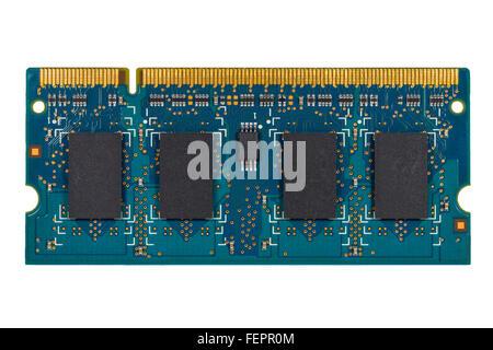 Memoria RAM aislado en blanco