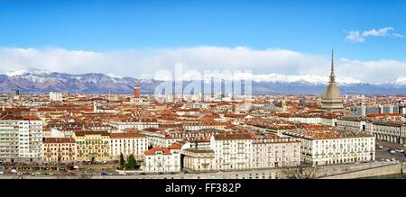 Turín (Torino) panorámica de alta definición