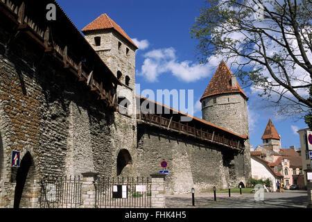 Estonia, Tallin, paredes Foto de stock