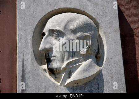 Profil von Freiherr von Stein an der Paulskirche, Frankfurt am Main.