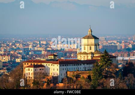 Turín (Torino) Monte dei Cappuccini e Chiesa di Santa Maria al Monte