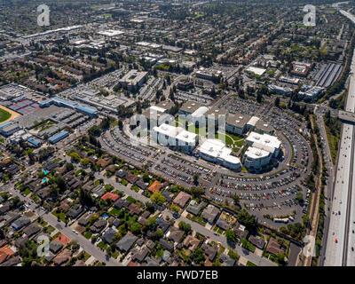 Campus de Apple, Apple Inc., antena, Apple University, por encima de Apple Inc sede Cupertino California, Silicon Valley