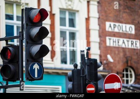 Teatro Teatro Apollo West End londinense Semáforo Street View