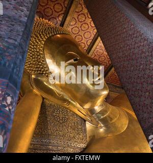 Buda reclinado Wat Pho Bangkok Thailand
