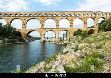 Pont du Gard, Languedoc-Rosellón región, Francia, Sitio del Patrimonio Mundial de la Unesco