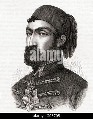 Omar Pasha Latas, 1806-1871. Y el gobernador general otomano.