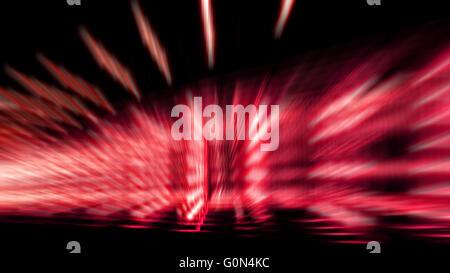La velocidad del zoom abstracta colorido efecto de luz de color rojo y blanco sombra