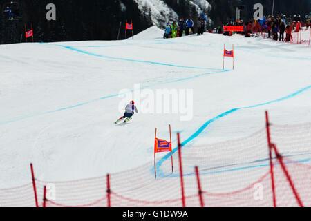 Europa, Francia, Haute Savoie, Rhone Alpes, Chamonix, Kandarhar carrera de esquí de la copa del mundo