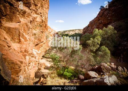 Emily Gap Reserva Natural cerca de Alice Springs, el Territorio del Norte, Australia Foto de stock