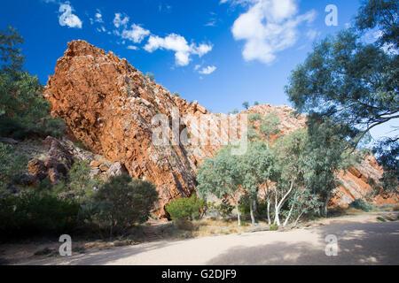Jessie Gap Reserva Natural cerca de Alice Springs, el Territorio del Norte, Australia Foto de stock