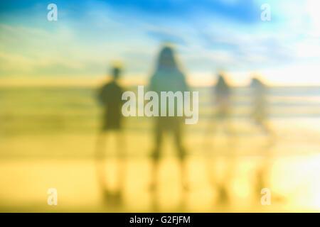 La gente en la playa Foto de stock